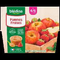 Alimentation Infantile BLEDINA - Coupelles pommes fraises 4x100g