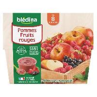 Alimentation Infantile BLEDINA - Coupelles pommes fruits rouges 4x100g