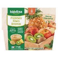 Alimentation Infantile BLEDINA - Coupelles pommes kiwi ananas 4x100g