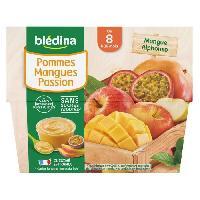 Alimentation Infantile BLEDINA - Coupelles pommes mangue passion 4x100g
