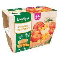 Alimentation Infantile BLEDINA - Coupelles pommes mirabelles 4x100g