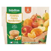 Alimentation Infantile BLEDINA - Coupelles pommes poires mandarines 4x100g