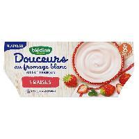 Alimentation Infantile BLEDINA - Douceurs au fromage blanc et fraise 4x100g