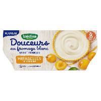 Alimentation Infantile BLEDINA - Douceurs au fromage blanc et mirabelles 4x100g