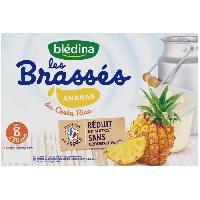Alimentation Infantile BLEDINA - Les brassés Ananas du Costa Rica 6x95g