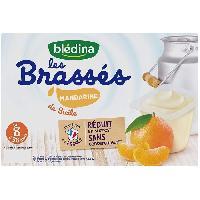 Alimentation Infantile BLEDINA - Les brassés Mandarine de Sicile 6x95g