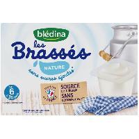 Alimentation Infantile BLEDINA - Les brassés Nature sans sucres ajoutés 6x95g