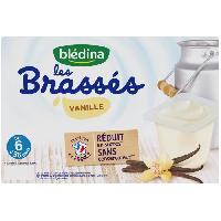Alimentation Infantile BLEDINA - Les brassés Vanille 6x95g