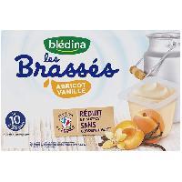 Alimentation Infantile BLEDINA - Les brassés abricot vanille 6x95g