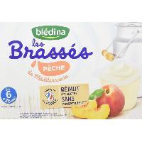 Alimentation Infantile BLEDINA - Les brassés peches de méditerranée 6x95g