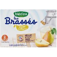 Alimentation Infantile BLEDINA - Les brassés poire William 6x95g