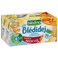 Alimentation Infantile BLEDINA Bledidej Briques de cereales au lait de suite Saveur brioche - 4x250 ml - Des 6 mois