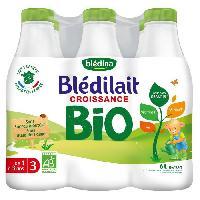 Alimentation Infantile BLEDINA Bledilait Lait de croissance Bio - Des 12 mois - 6 x 1 l