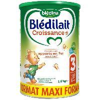 Alimentation Infantile BLEDINA Bledilait Lait en Poudre Croissance +- - 3eme age 12 mois a 3 ans - Maxi Format 1.6 kg