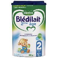 Alimentation Infantile BLEDINA Blédilait Lait en poudre - 2eme Age 6 mois a 1 an - 900 g - Bledilait