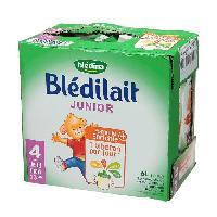 Alimentation Infantile BLEDINA Bledilait junior Brique de lait - 6x1 L - 4eme age de 18 mois a 3 ans