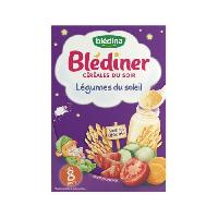 Alimentation Infantile BLEDINA Blediner Cereales du soir Legumes du Soleil - 240 g - Des 8 Mois