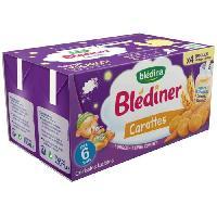 Alimentation Infantile BLEDINA Blediner Cereales lactees Carottes - 4x250 ml - Des 6 mois
