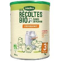 Alimentation Infantile BLEDINA Les recoltes Bio - Lait pour nourrissons 3eme age 800g
