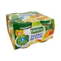 Alimentation Infantile BLEDINA Petits pots Cocktail de Fruits - 4x130 g - Des 6 mois