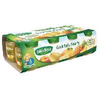 Alimentation Infantile BLEDINA Petits pots Cocktail de fruits - 8 x130 g - Des 6 mois