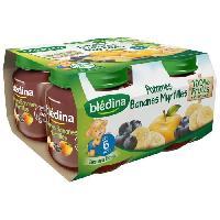 Alimentation Infantile BLEDINA Petits pots Pomme Bananes Myrtilles - 4x130 g - Des 6 mois