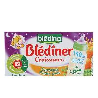 Alimentation Infantile Blediner Carottes Petits Pois 2x250ml - lot de 6 -A