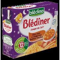 Alimentation Infantile Blediner soupe complete du soir douceur de legumes petites etoiles 2x250ml