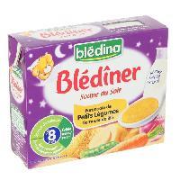 Alimentation Infantile Blediner soupe du soir farandole de petits legumes semoule de ble 2x250ml