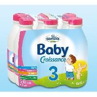 Alimentation Infantile CANDIA Baby Croissance Lait 3eme âge - 6 x 1L - De 10 mois a 3 ans