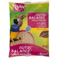 Alimentation Nutri'balance Melange de graines - Pour oiseaux exotiques - 3kg