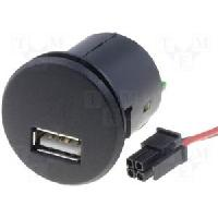 Alimentations 12V - 24V CONVERTISSEUR 12VOLT 5 VOLT 2-1A SOCLE USB FEMMELLE A PERCER