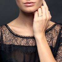 Alliance - Solitaire Alliance Or 375degres et Diamants Femme - 58