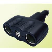 Allume-cigare 12V Adaptateur Allume-cigareUSB - 2x12V4A + 2x5V2A - Noir