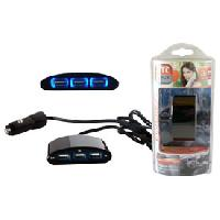Allume-cigare 12V Adaptateur allume-cigare 3 USB 12-24V 3A cable 1m MOVE - ADNAuto