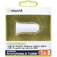 Allume-cigare 12V Adaptateur allume-cigare Design 1 USB 1A blanc MUVIT