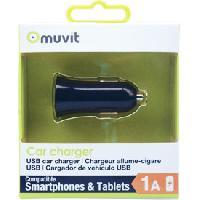 Allume-cigare 12V Adaptateur allume-cigare Design 1 USB 1A noir MUVIT