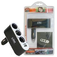 Allume-cigare 12V Adaptateur triple prise allume-cigare - 1 USB 5V 1A MOVE - ADNAuto