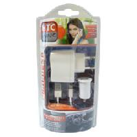 Allume-cigare 12V Chargeur 3 en 1 iPhone 5 blanc - HTC MOVE