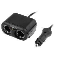 Allume-cigare 12V Multiprise allume-cigare 10A 12V 2x4A noir avec cable 1m - testeur de batterie
