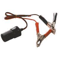 Allume-cigare 12V Prise allume-cigares avec pinces de batterie 12-24V 10A + 20cm cable - ADNAuto