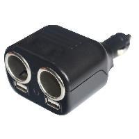 Allume Cigare - Prise Allume-cigare ELEKTRON Multiprise double - 12 Volts - USB