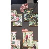 Amenagement Exterieur - Du Jardin 2 Toiles de jardin Toucan-Perroquet - 47 x 64 cm Aucune