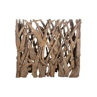 Amenagement Exterieur - Du Jardin Brise vue en teck - 118 x 28 x 110 cm - Marron naturel