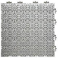 Amenagement Exterieur - Du Jardin D-C-FLOOR Dalles de sol clipsables - Polypropylene - 38 x 38 x 1 cm - Gris clair