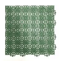 Amenagement Exterieur - Du Jardin D-C-FLOOR Lot de 7 dalles de sol en polypropylene 1m² - 38 x 38 cm - Vert