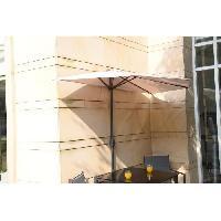 Amenagement Exterieur - Du Jardin Demi Parasol de balcon 270 cm - Pied non inclus - Structure acier et toile polyester 180g-m2 - Beige