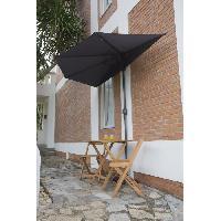 Amenagement Exterieur - Du Jardin Demi Parasol de balcon 270 cm - Pied non inclus - Structure acier et toile polyester 180g-m2 - Gris