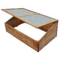 Amenagement Exterieur - Du Jardin EKJU Serre avec plexiglass en sapin - 100 x 60 x H 39 cm