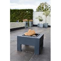 Amenagement Exterieur - Du Jardin E'LITE Braséro avec table en fibre carrée 58x58x39 Aucune